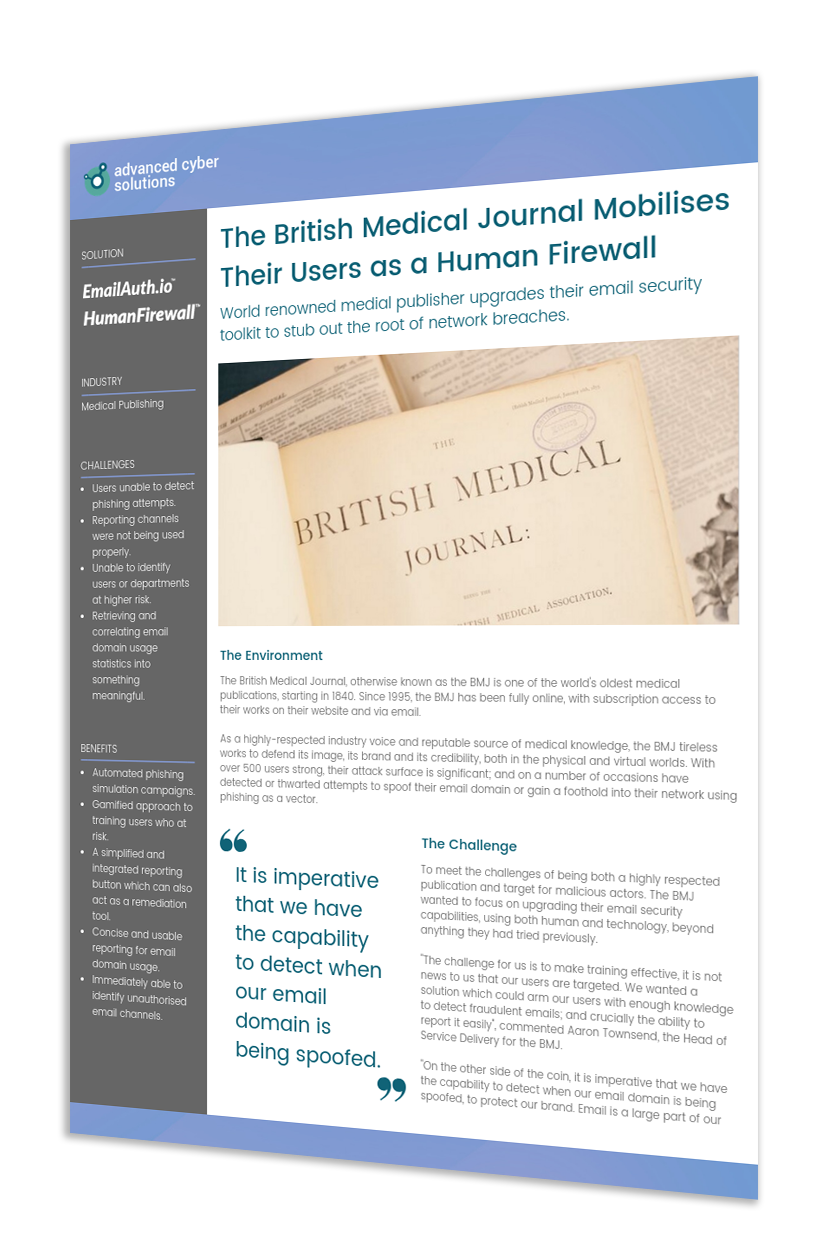 The British Medical Journal Mobilises Their Users as a Human Firewall